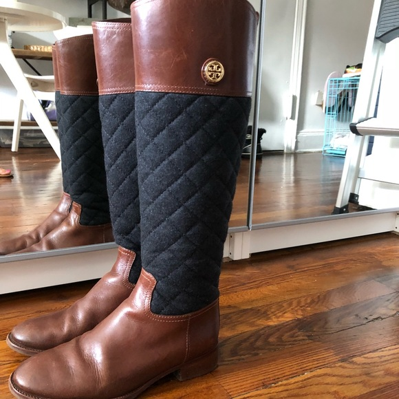 241208e9a1d Tory Burch Rosalie Quilted Riding Boot. M 5ae5e25f5521bed85555d7c8